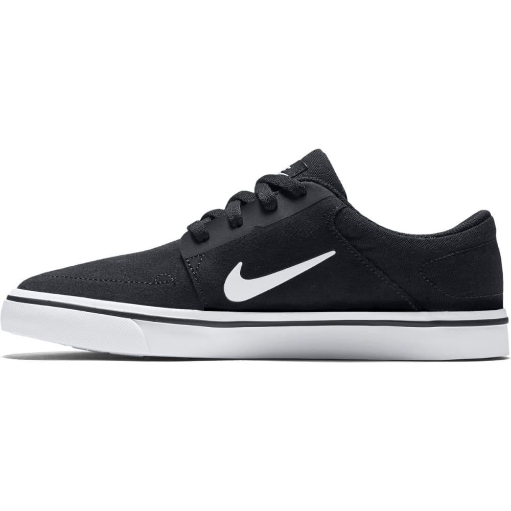 NIKE SB Boys' Portmore Suede Skate Shoes - BLACK