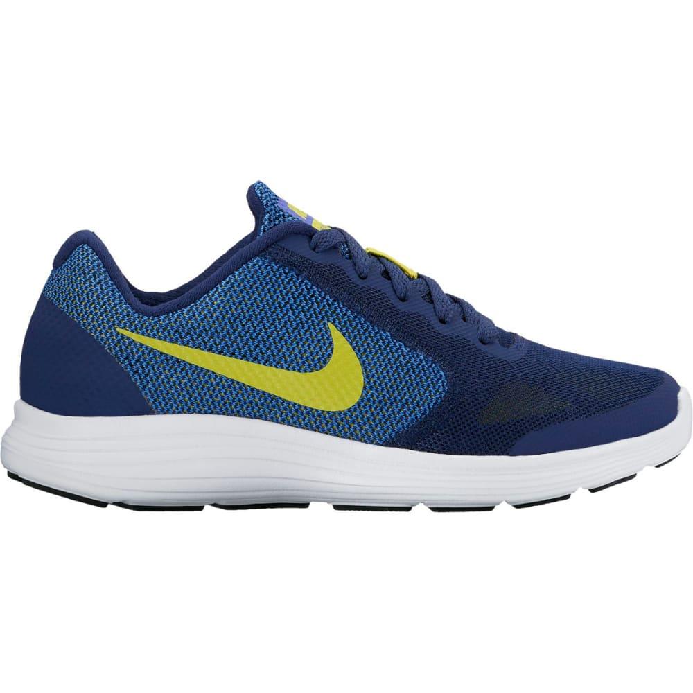 NIKE Boys' Revolution 3 Running Shoes - BINARY BLUE