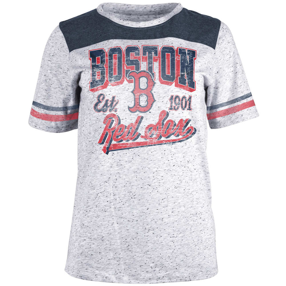 BOSTON RED SOX Women's White Pepper Short-Sleeve Tee - WHITE