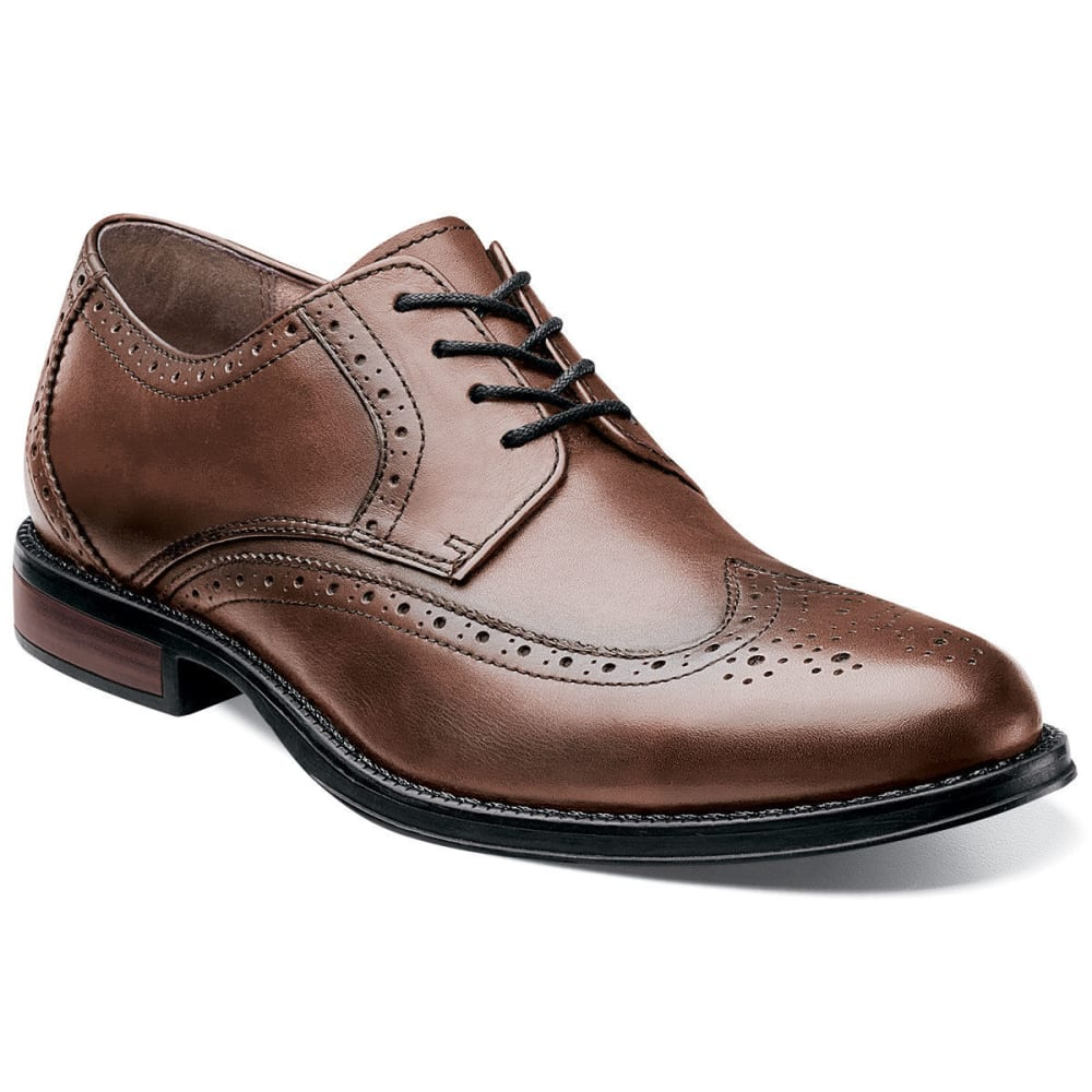 NUNN BUSH Men's Ryan Wing-Tip Shoes - CHESTNUT