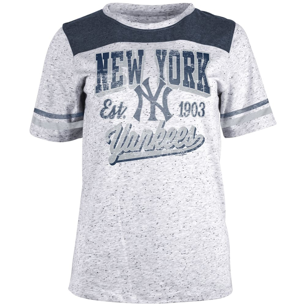 NEW YORK YANKEES Women's White Pepper Short-Sleeve Tee - WHITE
