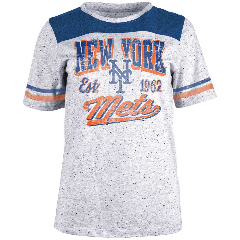 NEW YORK METS Women's White Pepper Short-Sleeve Tee - WHITE