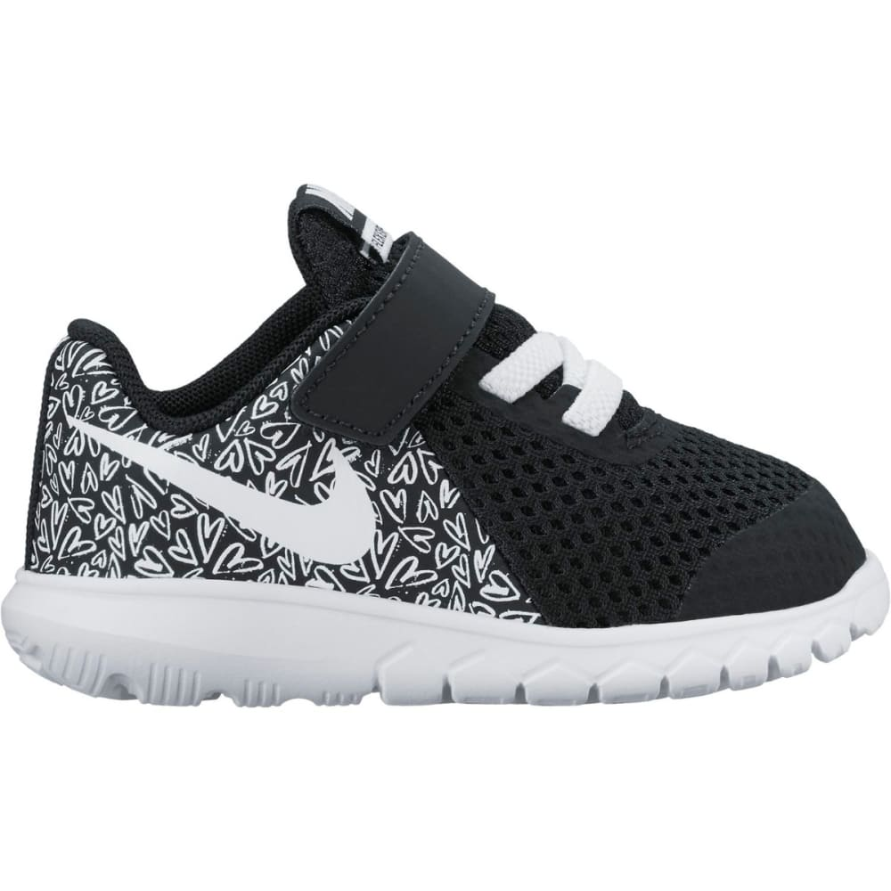 NIKE Toddler Girls' Flex Experience 5 Running Shoes - BLK/WHT/LAVA GLOW