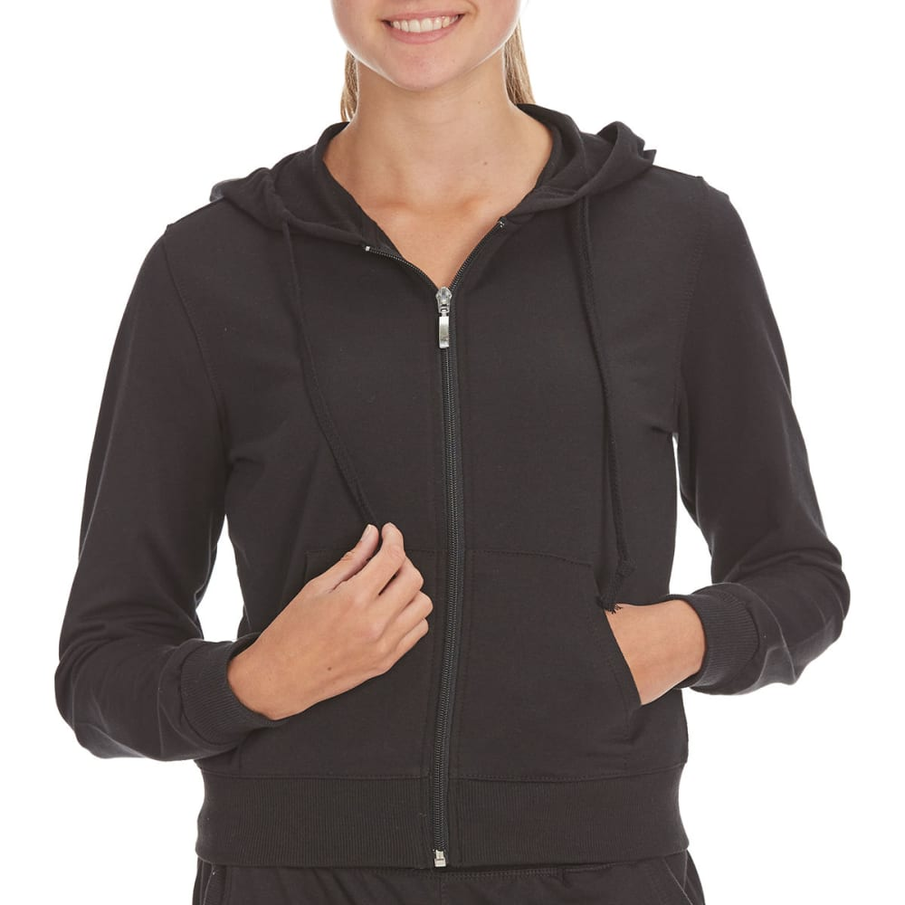 Ambiance Juniors French Terry Full-Zip Hoodie - Black, S