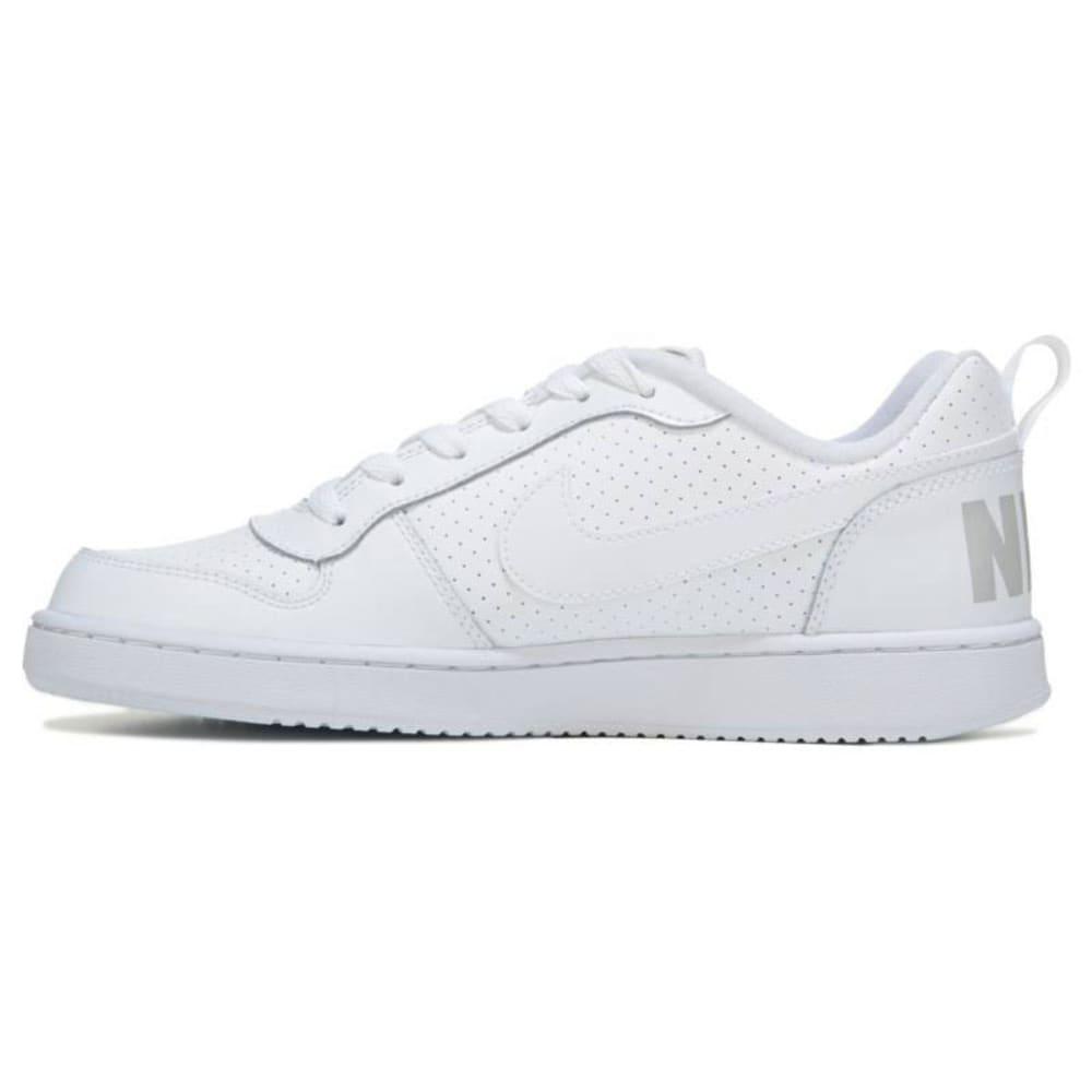 NIKE Big Boys' Court Borough Low Basketball Shoes - WHITE