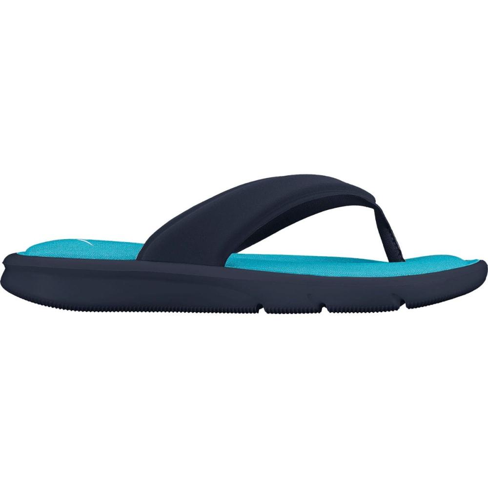 NIKE Women's Ultra Comfort Flip Flops - OBSIDIAN/WHITE/BLUE
