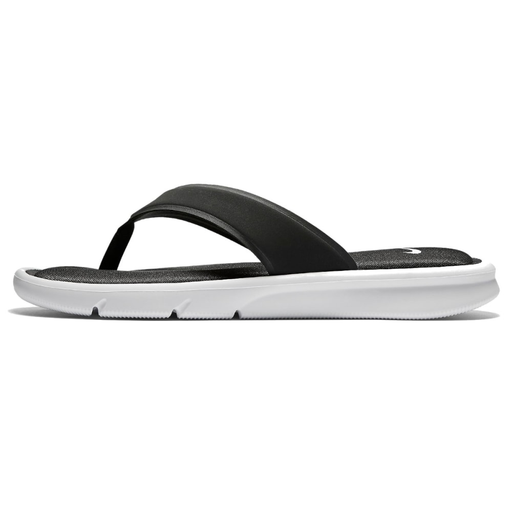 NIKE Women's Ultra Comfort Thong Sandals - WHITE/BLK