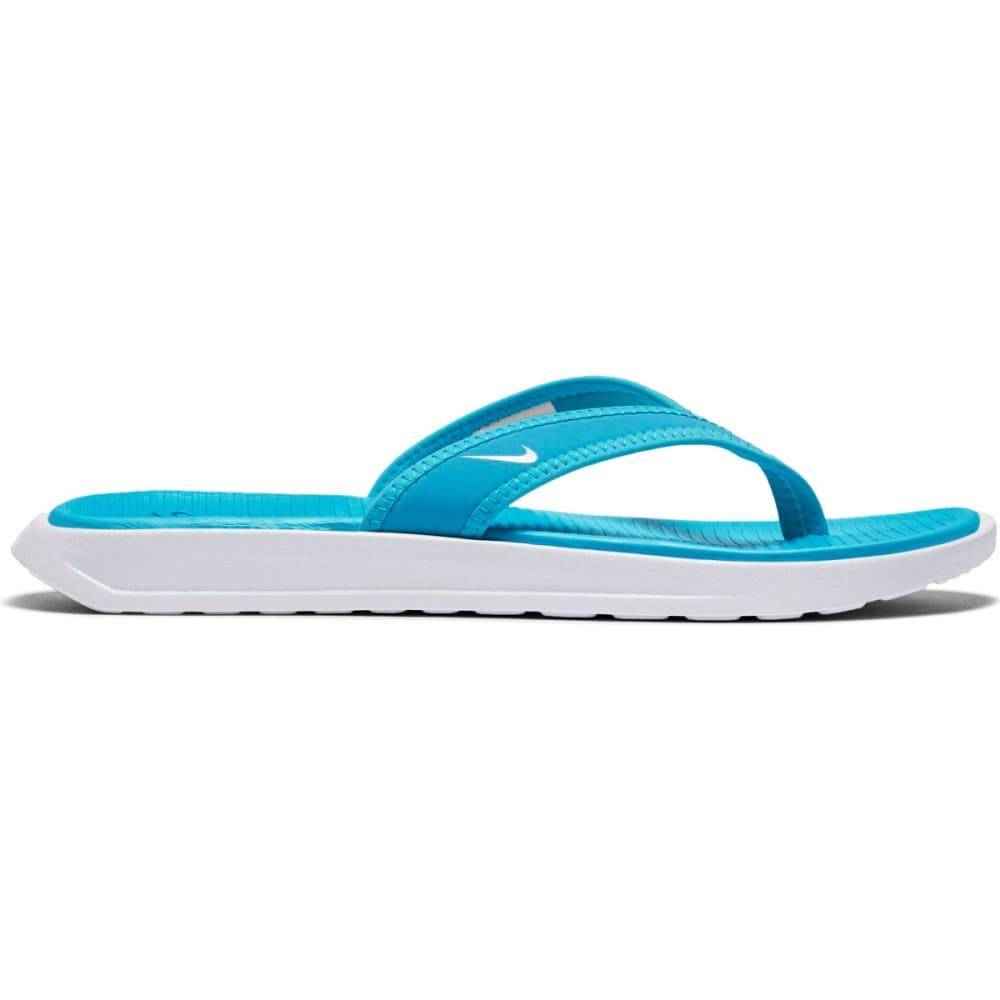 NIKE Women's Ultra Celso Flip Flops - CHLORINE BLUE/WHITE