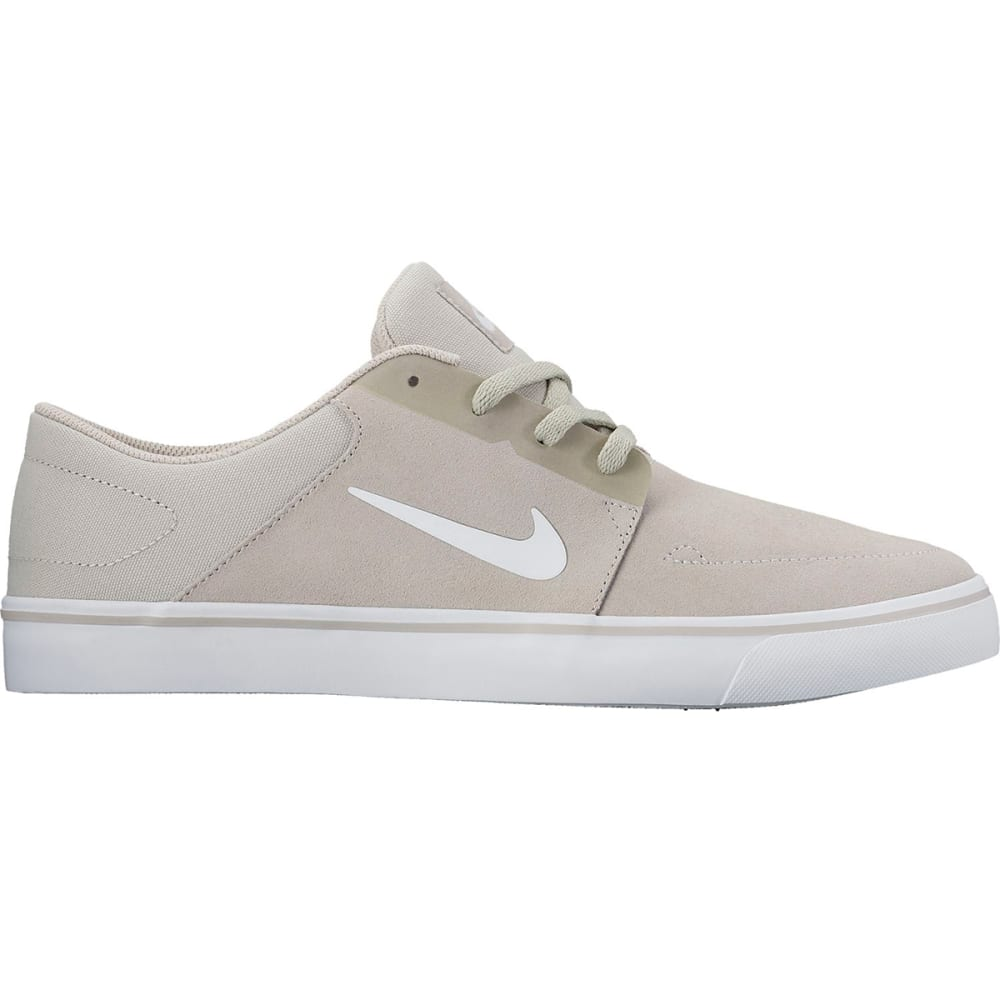 NIKE SB Men's Portmore Suede Skate Shoes - PALE GRY