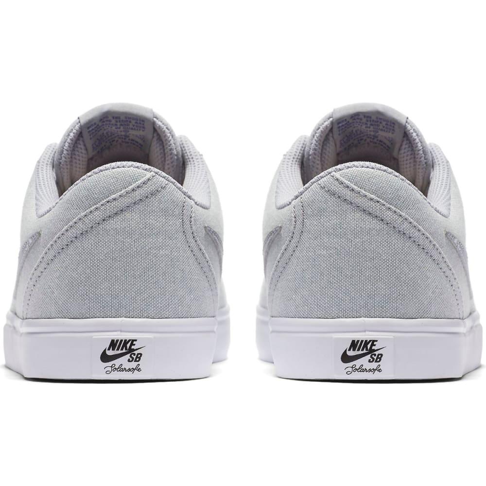 NIKE SB Men's Check Solarsoft Canvas Premium Skate Shoes - WOLF GREY
