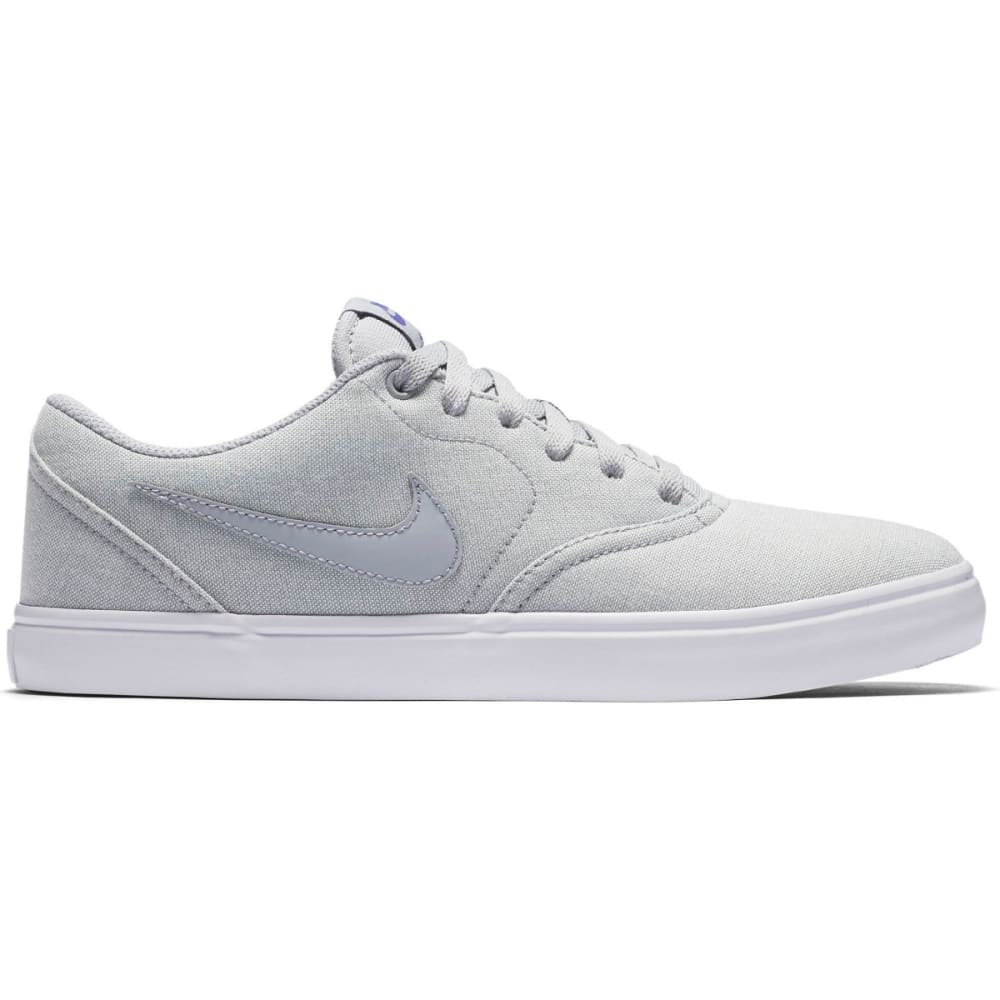NIKE SB Men's Check Solarsoft Canvas Premium Skate Shoes - WOLF GREY