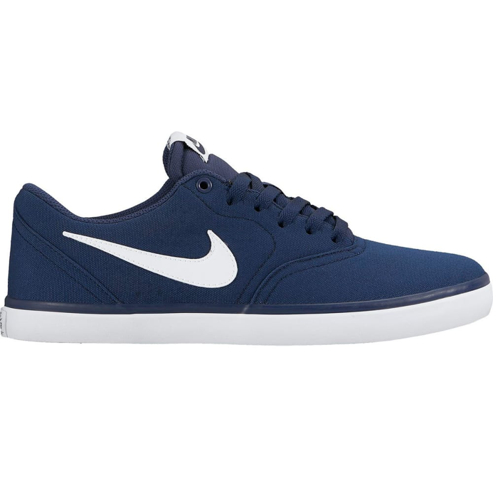 NIKE SB Men's Check Solarsoft Canvas Skate Shoes - NAVY
