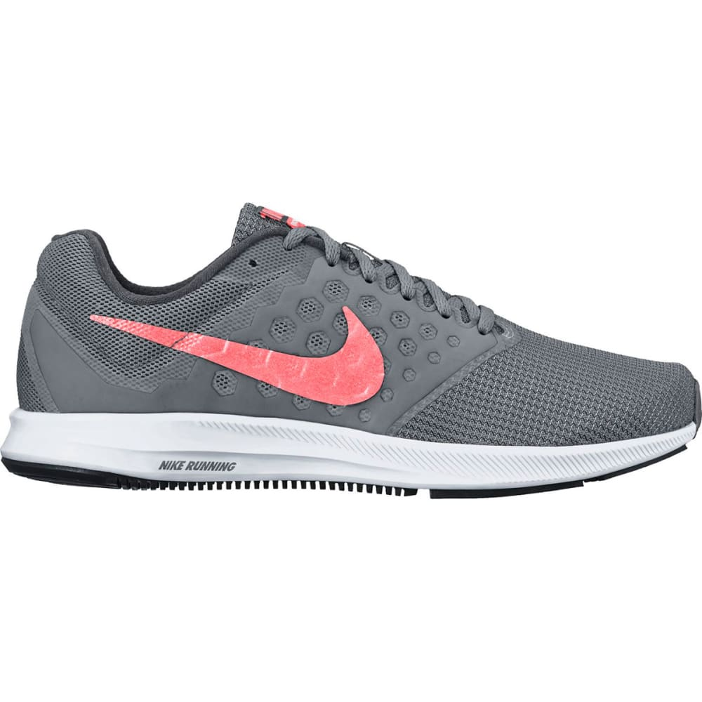 NIKE Women's Downshifter 7 Running Shoes - COOL GREY/LAVA GLOW
