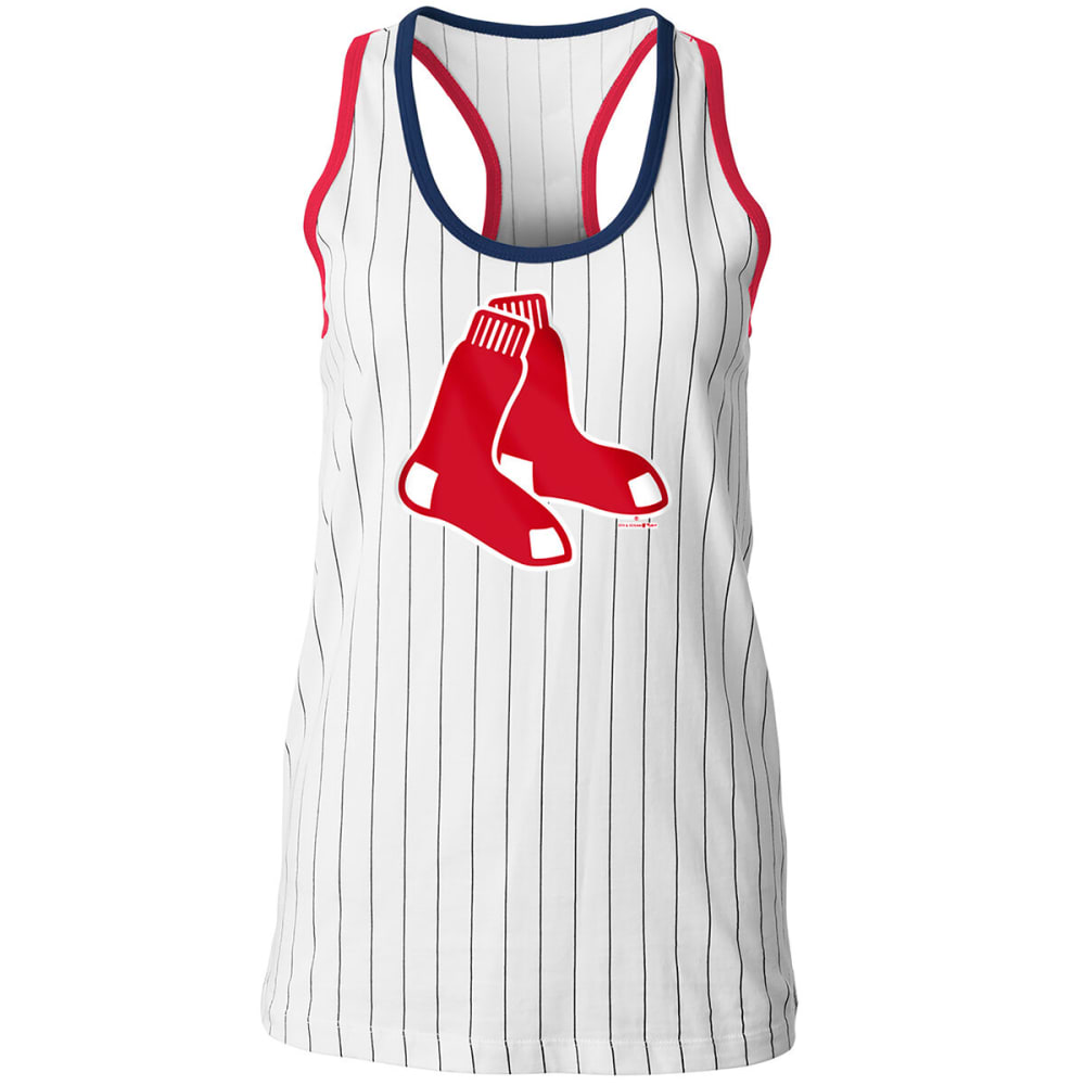 BOSTON RED SOX Women's Pinstripe Tank - WHITE