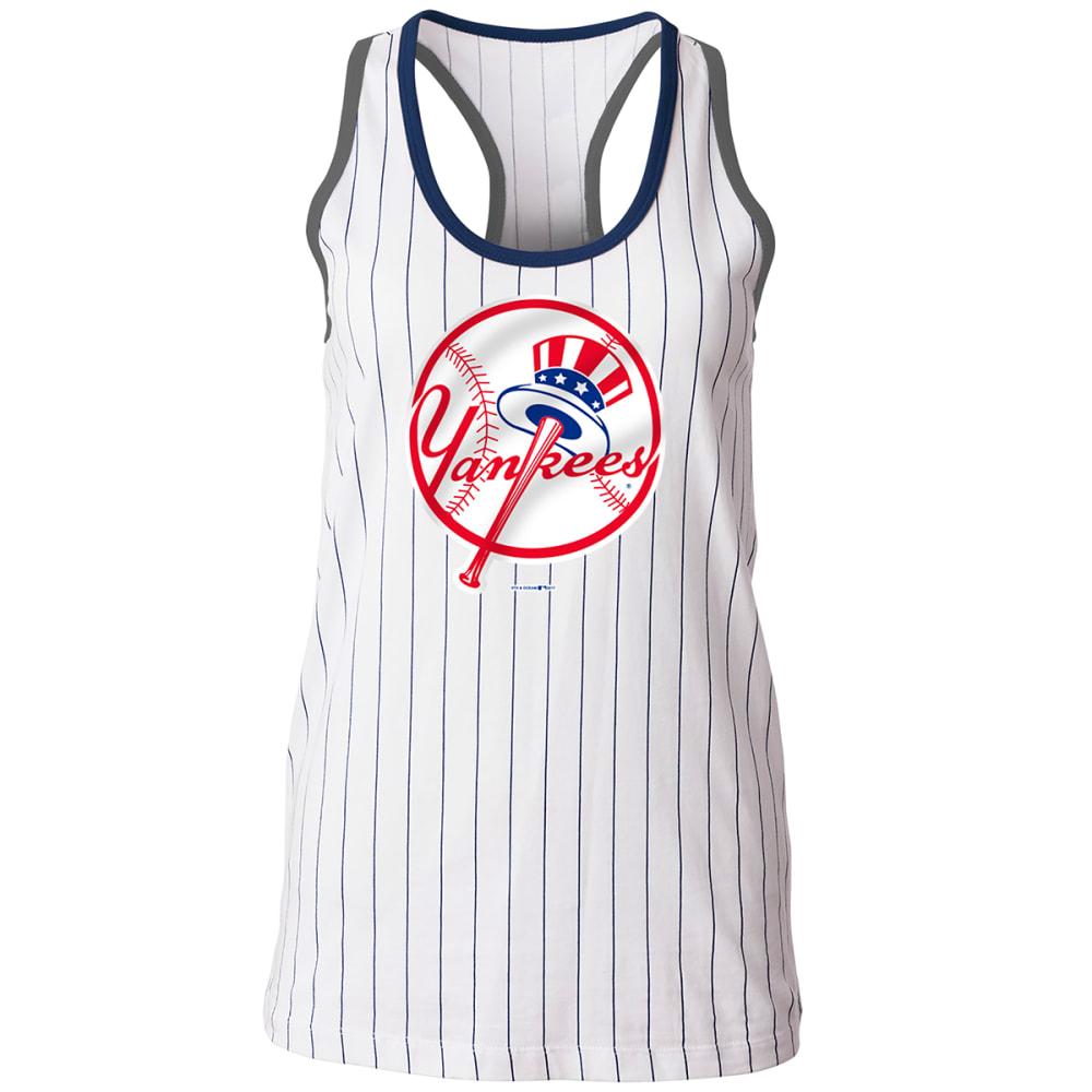 NEW YORK YANKEES Women's Pinstripe Tank - WHITE