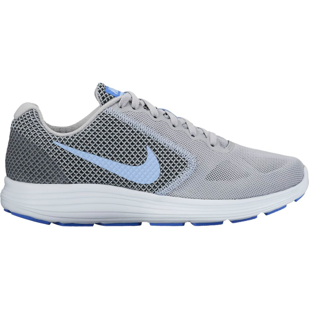 NIKE Women's Revolution 3 Running Shoes - WOLF GREY/ALUMINUM