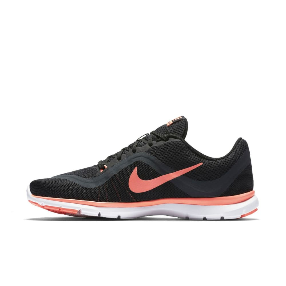 NIKE Women's Flex Trainer 6 Training Shoes - BLK/ANTH/LAVAGLOW