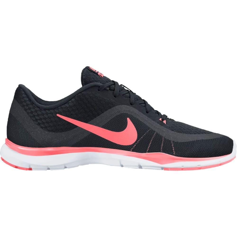 NIKE Women's Flex Trainer 6 Training Shoes - BLK/ANTH/LAVAGLOW
