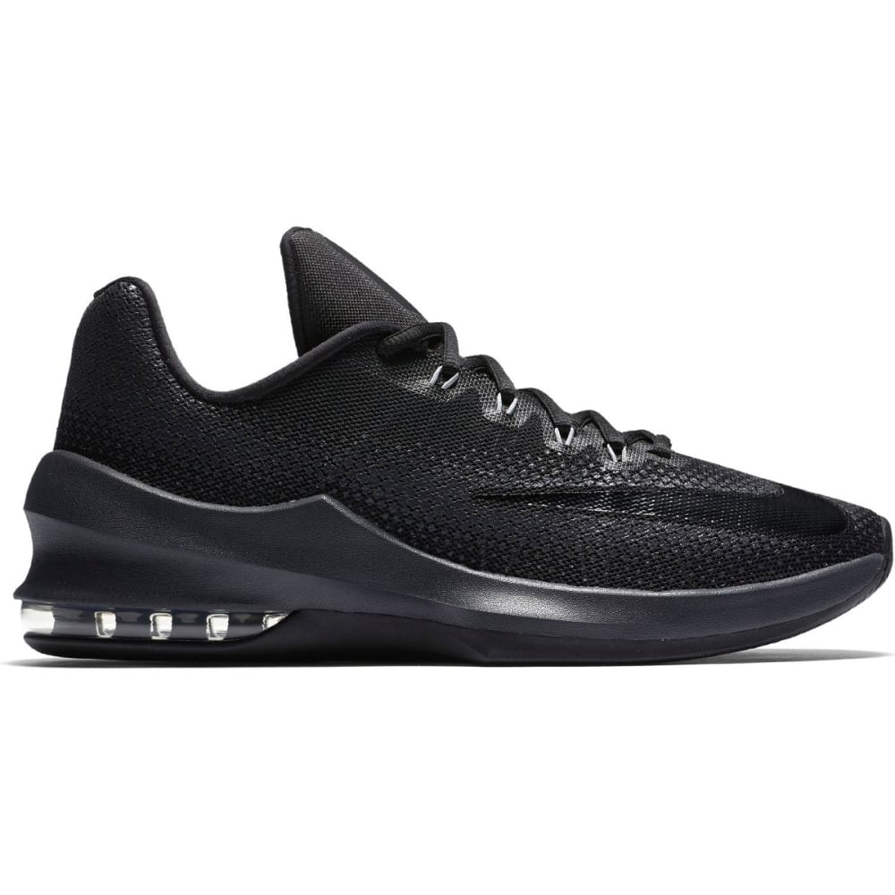 NIKE Men's Air Max Infuriate Low Basketball Shoes - BLACK