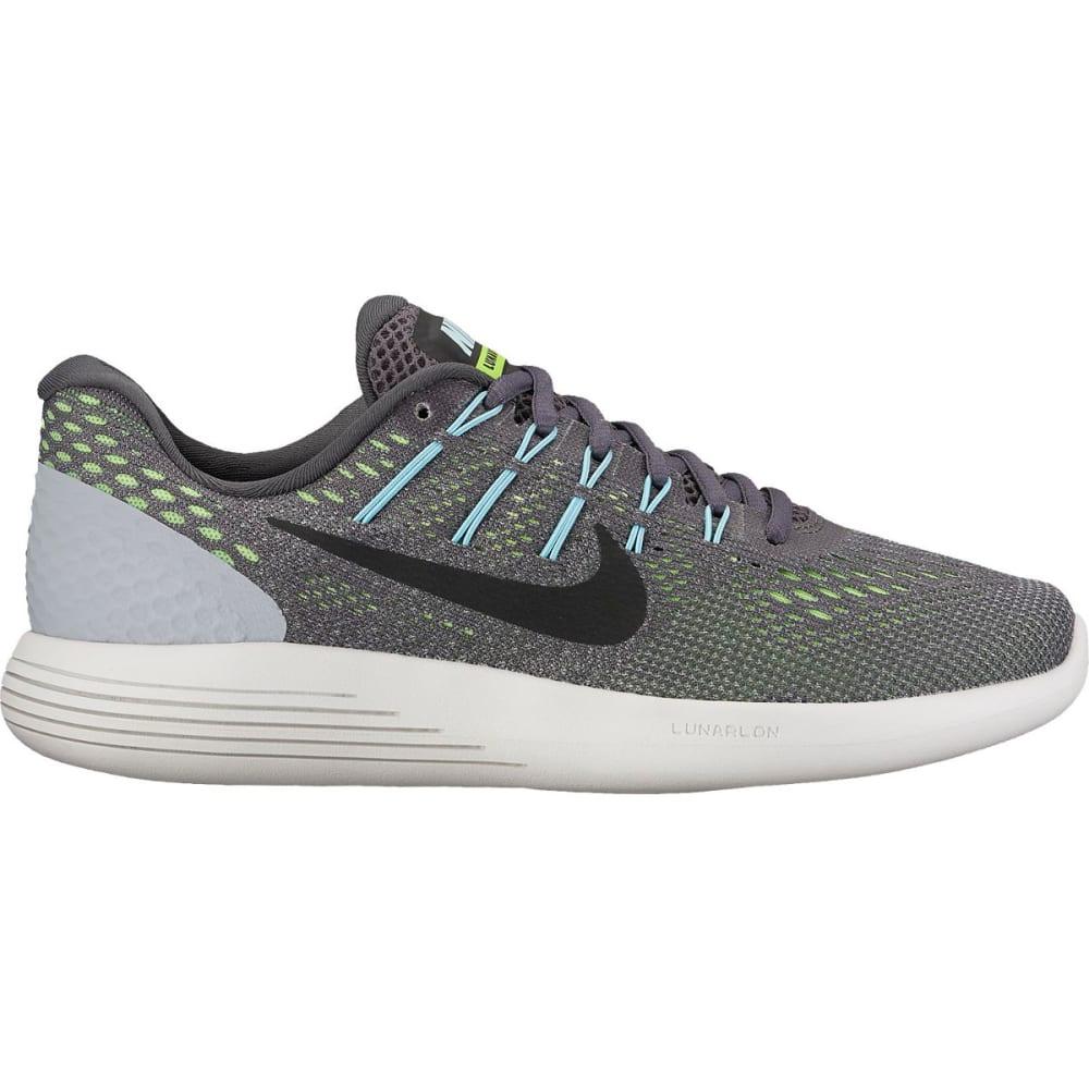 NIKE Women's LunarGlide 8 Running Shoes - DK GRY/BLK/GHST GRN