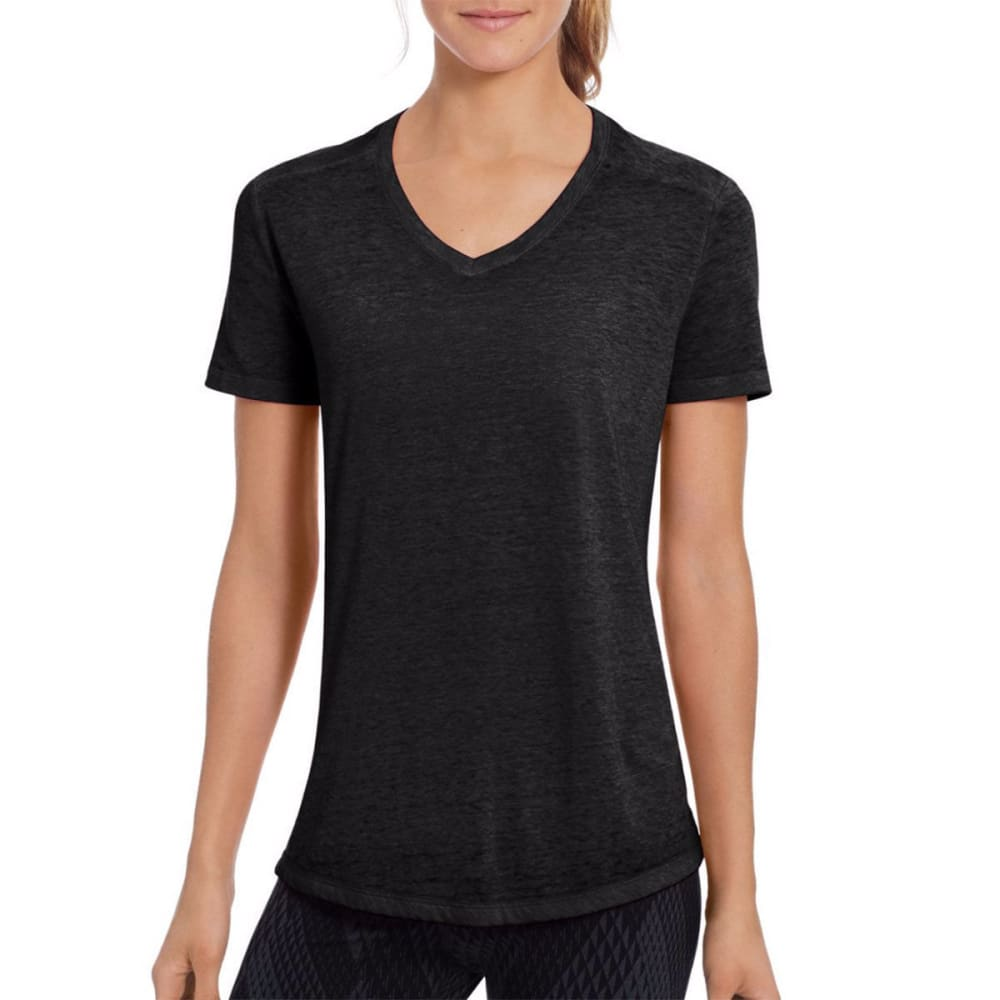 CHAMPION Women's Authentic Wash Short-Sleeve Tee - BLACK-001