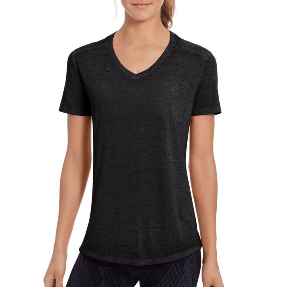 CHAMPION Women's Authentic Wash Short-Sleeve Tee - BLACK-001