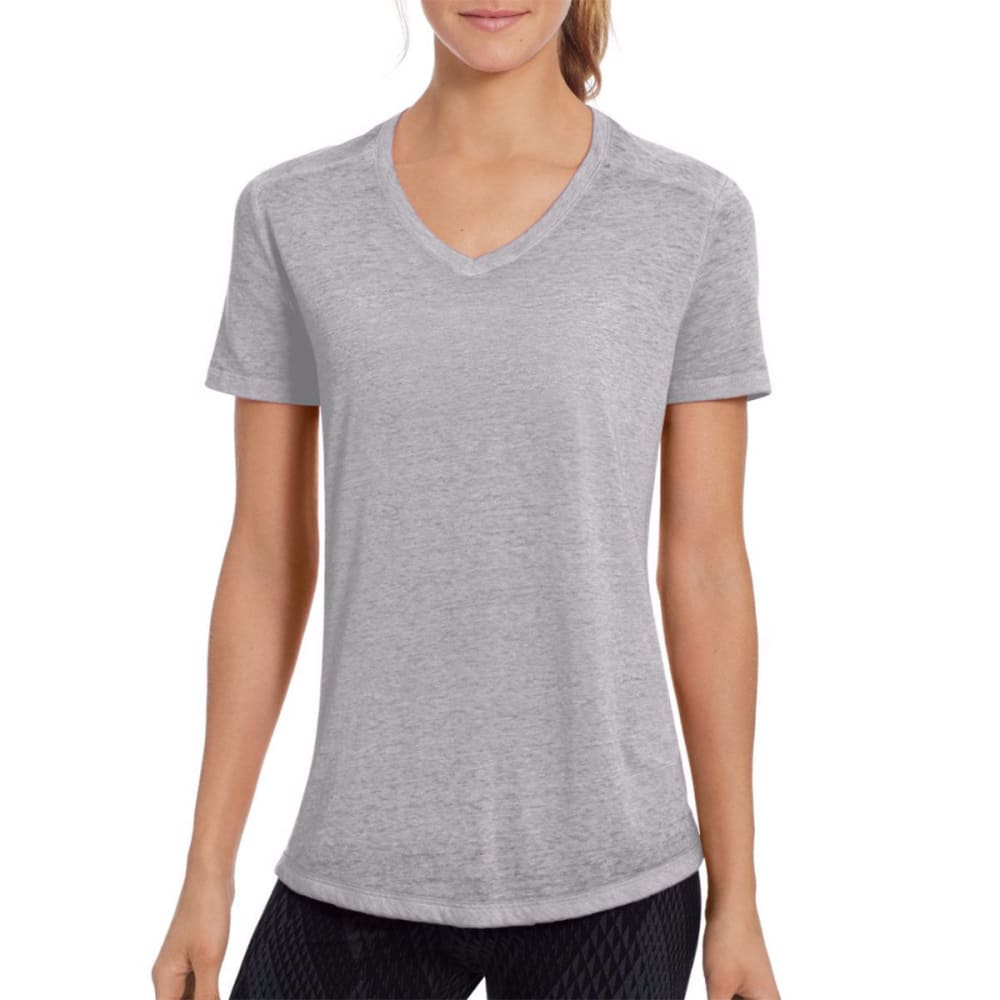 CHAMPION Women's Authentic Wash Short-Sleeve Tee - OXFORD GREY-023