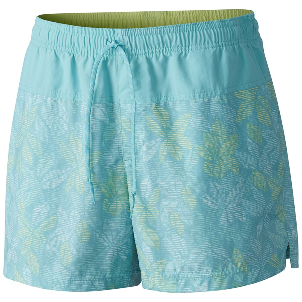 Columbia Women's Sandy River Printed Shorts - Green, S