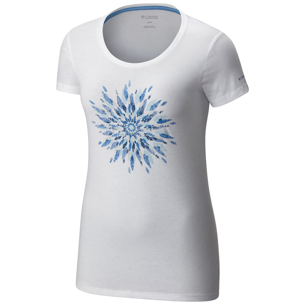 COLUMBIA Women's Daisy Day Medallion Short Sleeve Tee - 100-WHITE