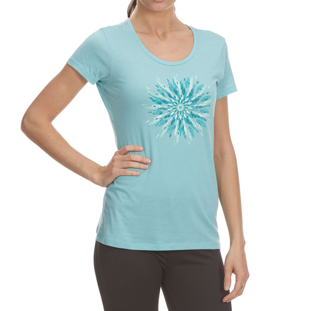 Columbia Women's Daisy Day Medallion Short Sleeve Tee - Green, S