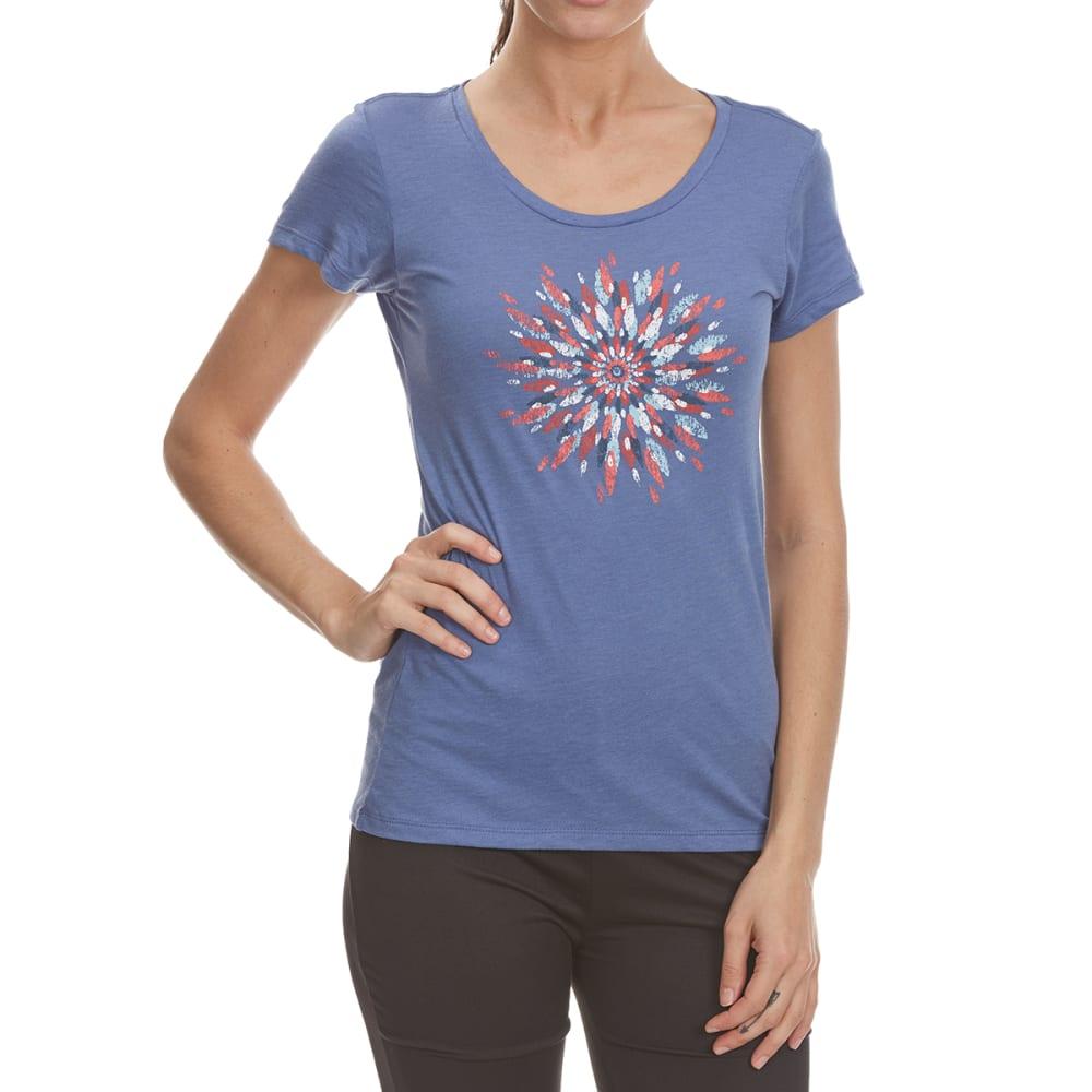 COLUMBIA Women's Daisy Day Medallion Short Sleeve Tee - 508-BLUEBELL