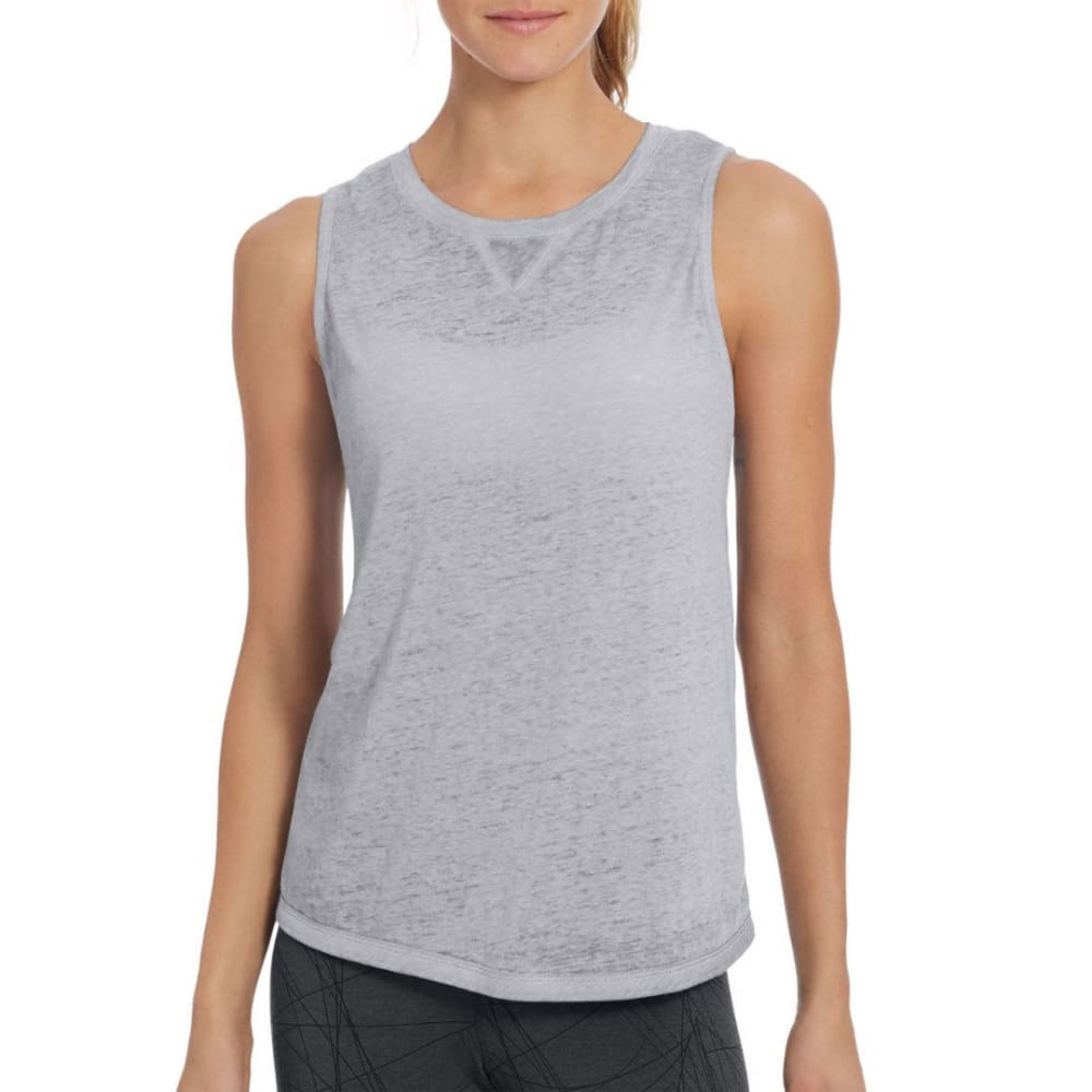 CHAMPION Women's Authentic Wash Muscle Tank Top - OXFORD GREY-023