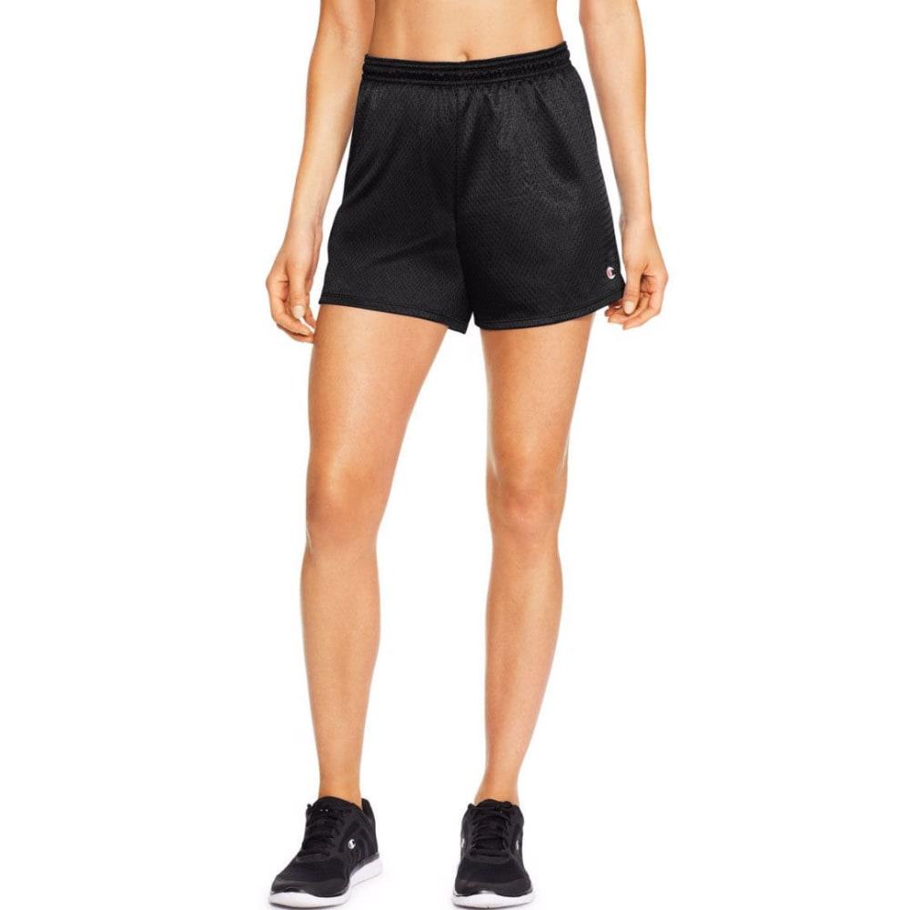 CHAMPION Women's Mesh Shorts - BLACK-001