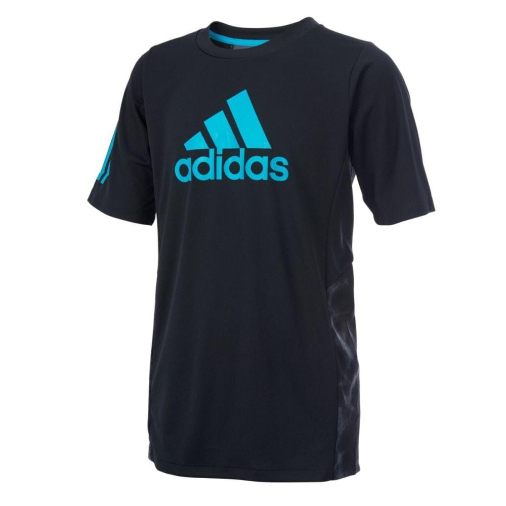 Adidas Boys Smoke Screen Training Short-Sleeve Tee - Black, S