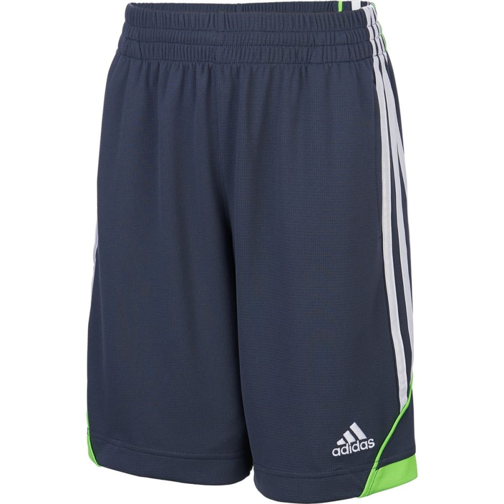 ADIDAS Boys' Dynamic Speed Shorts - MERC GRY/SOL GRN-H41