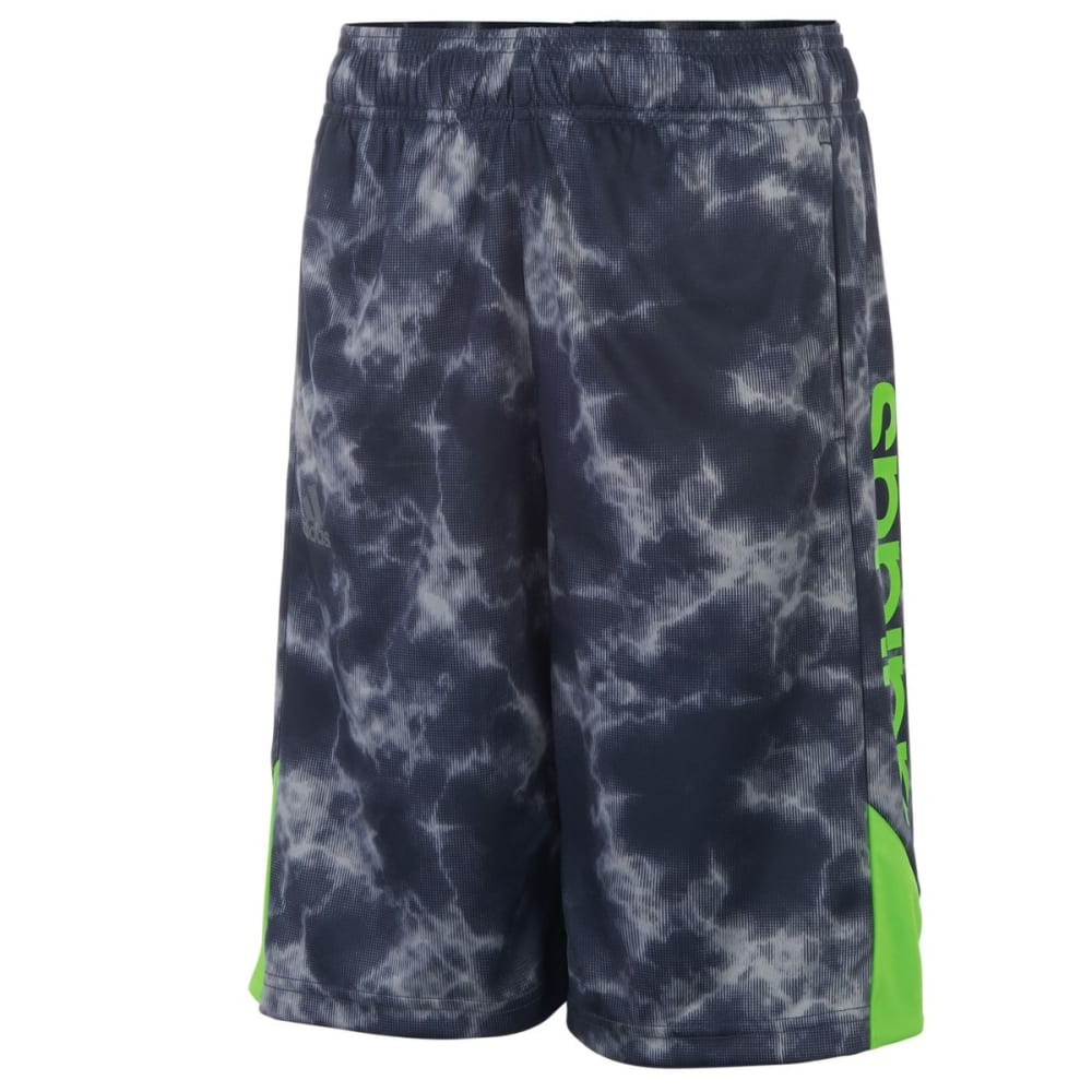 ADIDAS Boys' Smoke Screen Shorts - MERC GREY/SOLGRN-H41