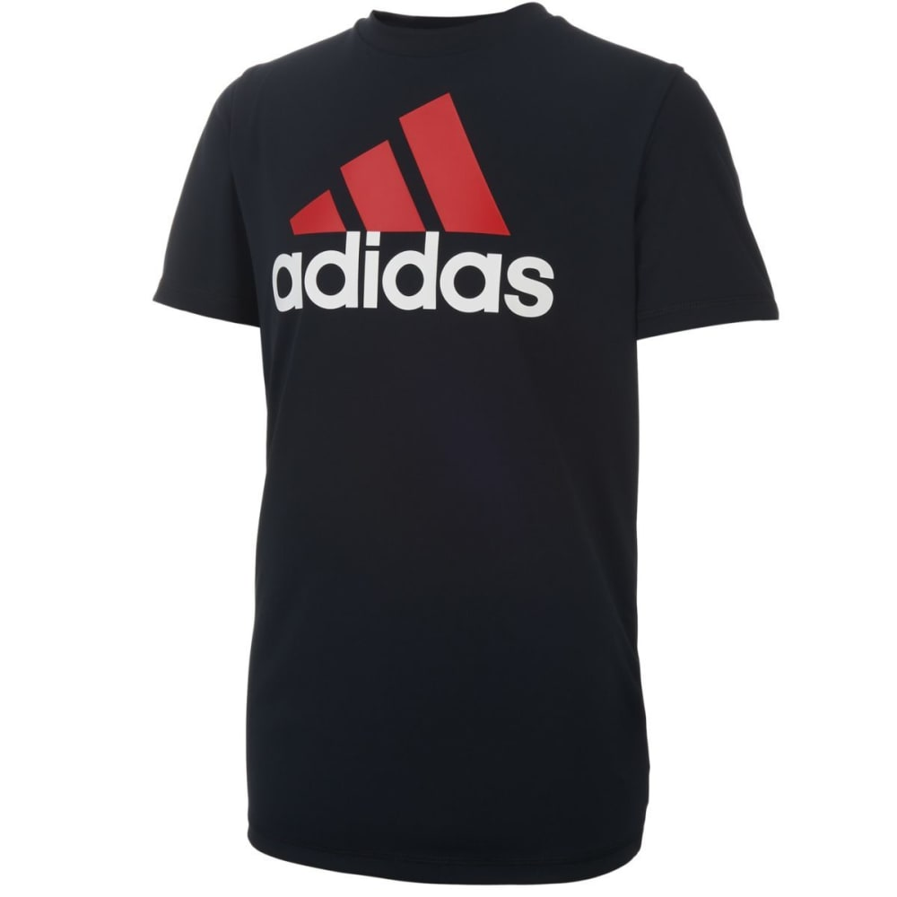ADIDAS Boys' Clima Performance Logo Short-Sleeve Tee - BLACK-K01