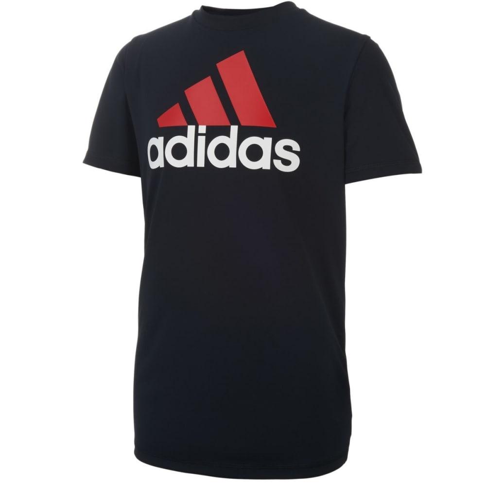 ADIDAS Boys' Clima Performance Logo Short-Sleeve Tee - BLACK-K01
