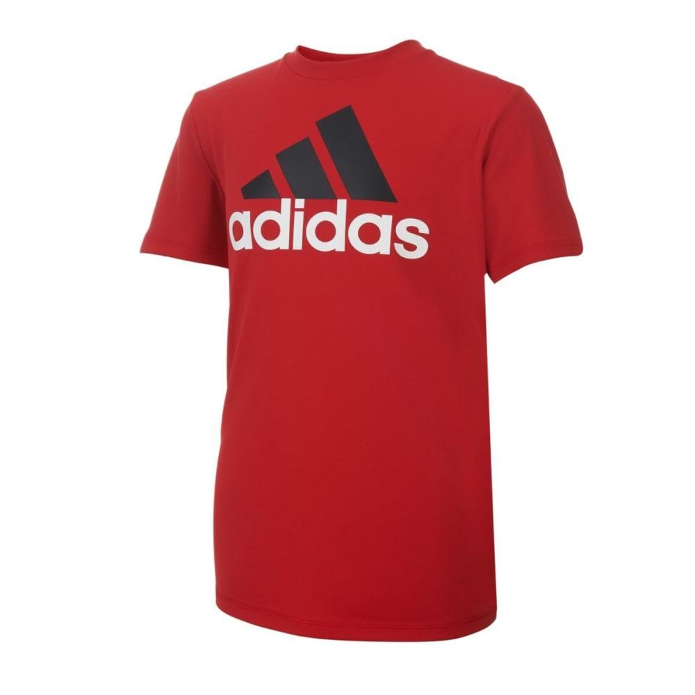 ADIDAS Boys' Clima Performance Logo Short-Sleeve Tee - SCARLET-AR04