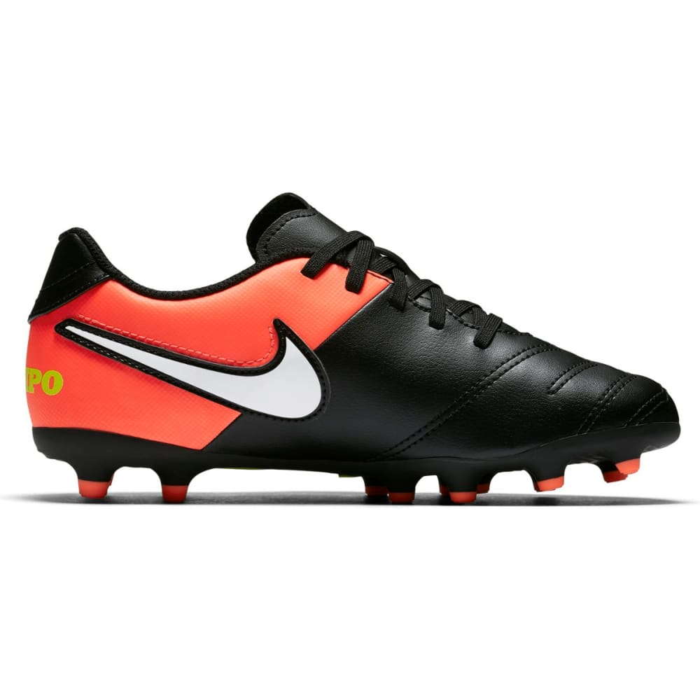 NIKE Big Kids' Junior Tiempo Rio III Firm Ground Soccer Cleats - BLACK