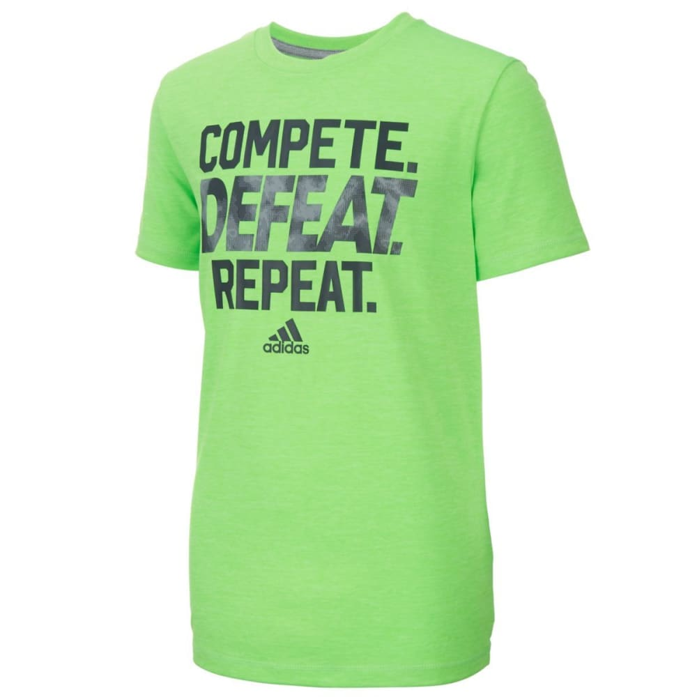 Adidas Boys Complete Screen Short-Sleeve Tee - Green, S