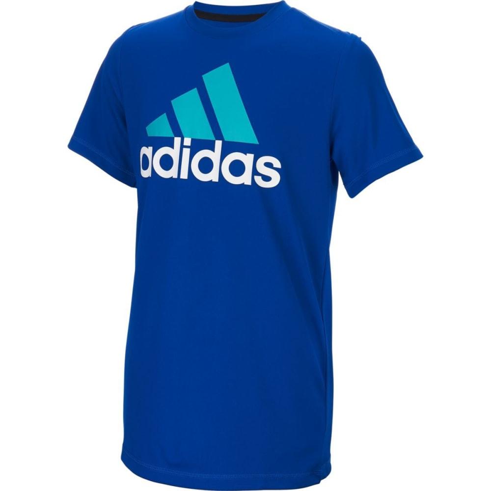 Adidas Boys Climaproof Logo Tee - Blue, 4