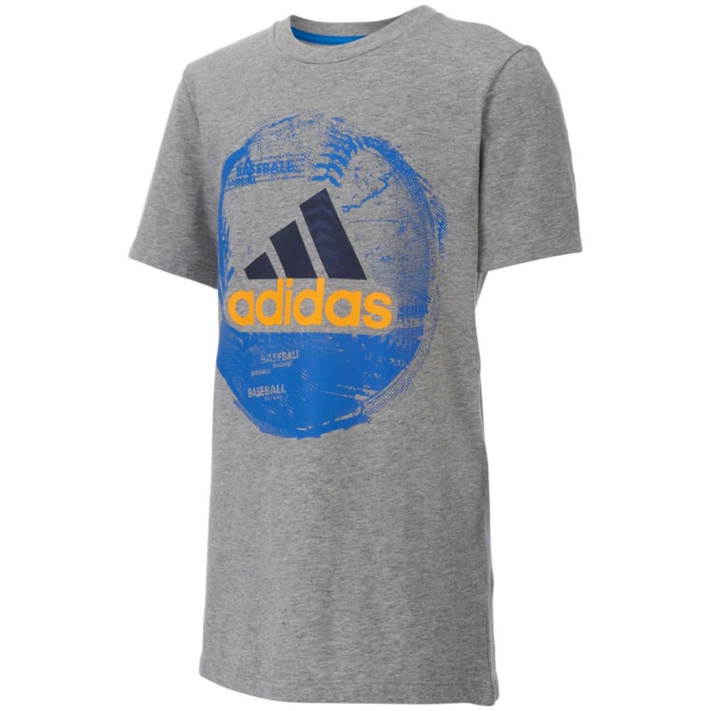 ADIDAS Boys' Field and Court Short-Sleeve Tee - GREY HTR.BBALL-H01