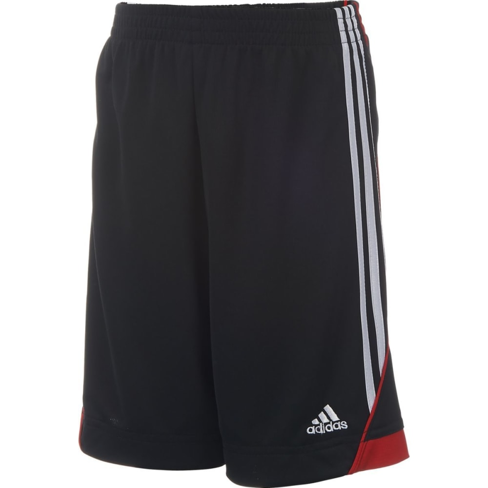 ADIDAS Boys' Dynamic Speed Shorts - BLACK/SCARLET-K11