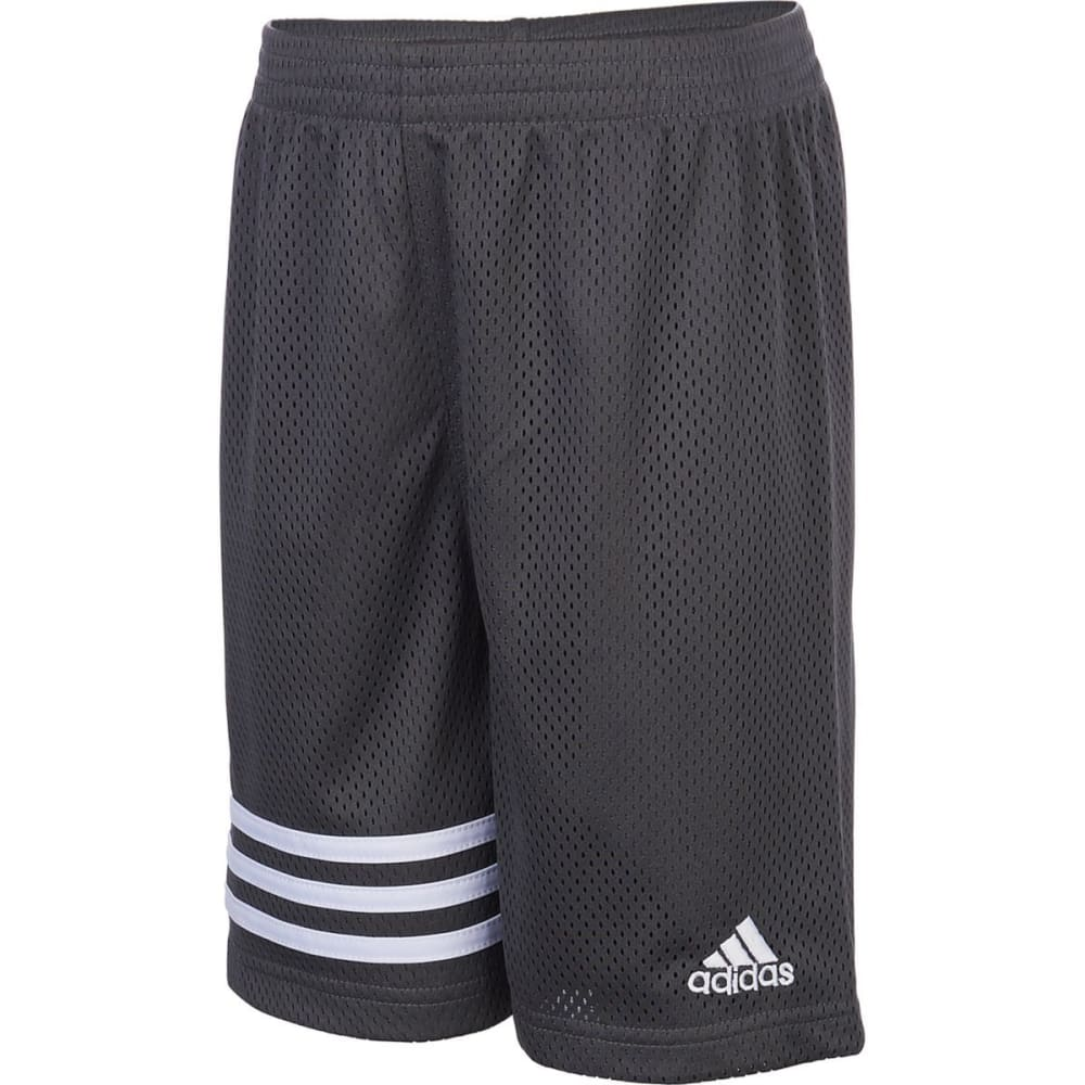 ADIDAS Boys' Defender Mesh Shorts - GREY FIVE-AH07