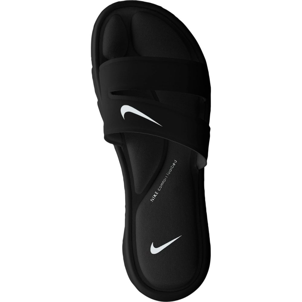 NIKE Women's Ultra Comfort Slide Sandals - BLACK/WHITE