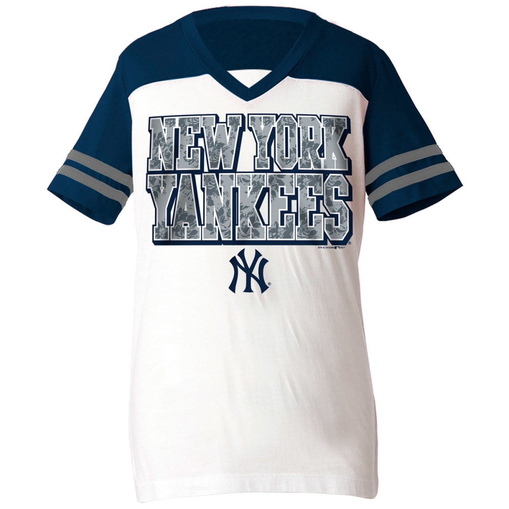 NEW YORK YANKEES Girls' Clear Flake Short-Sleeve Tee 7-8X