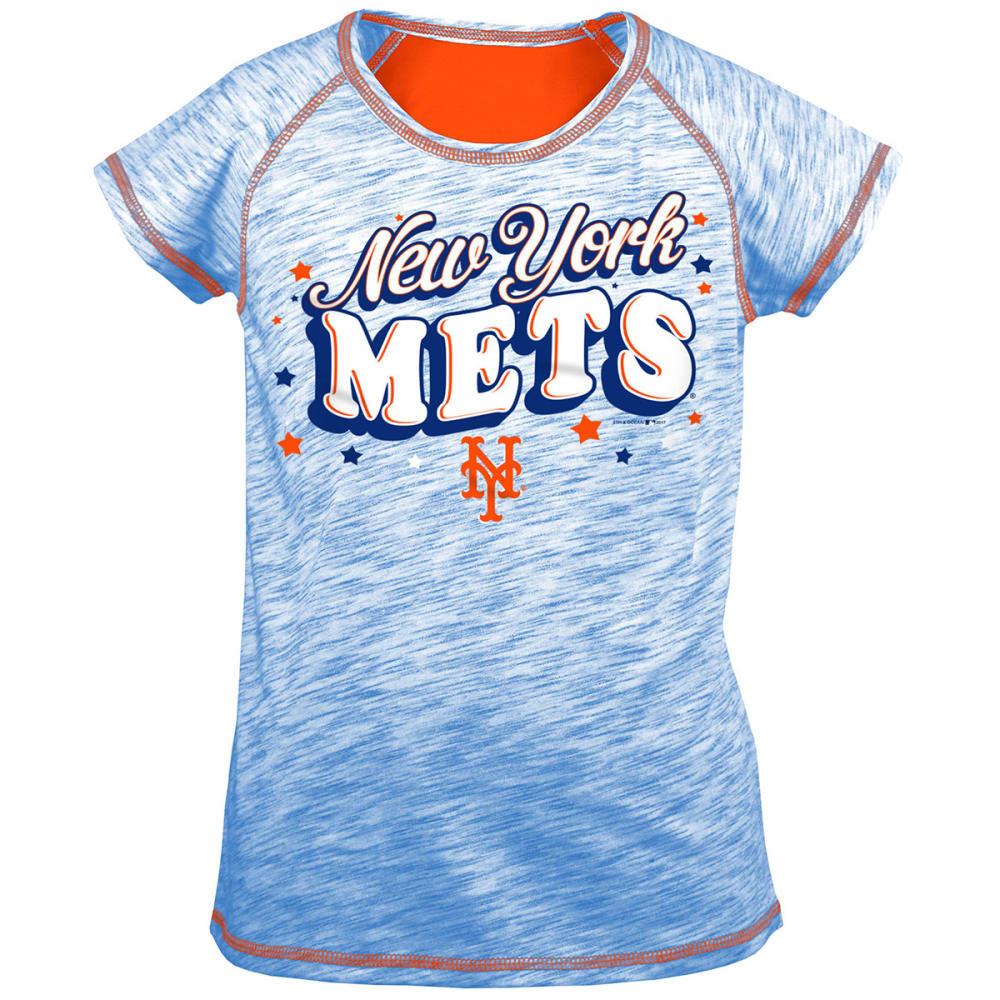 NEW YORK METS Girls' Space-Dye Short-Sleeve Tee 6-6X