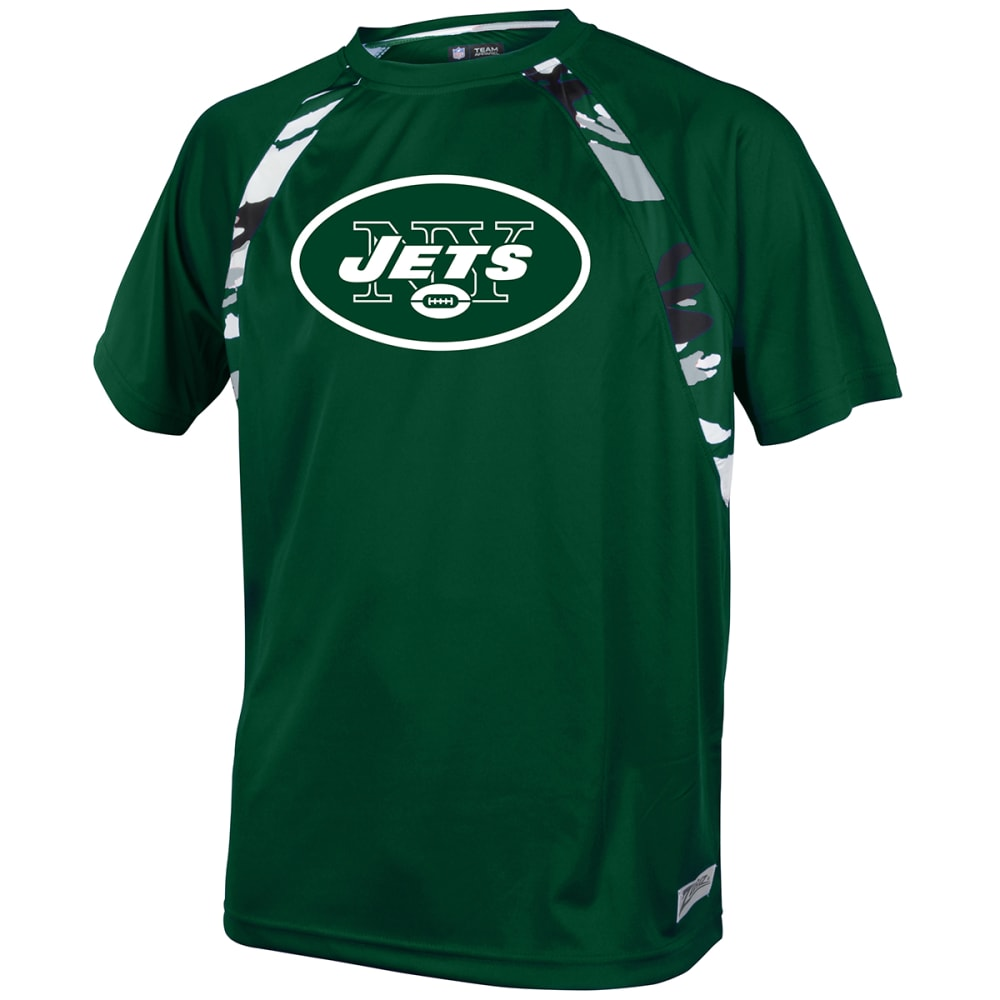 NEW YORK JETS Men's Solid Camo Short-Sleeve Tee - GREEN