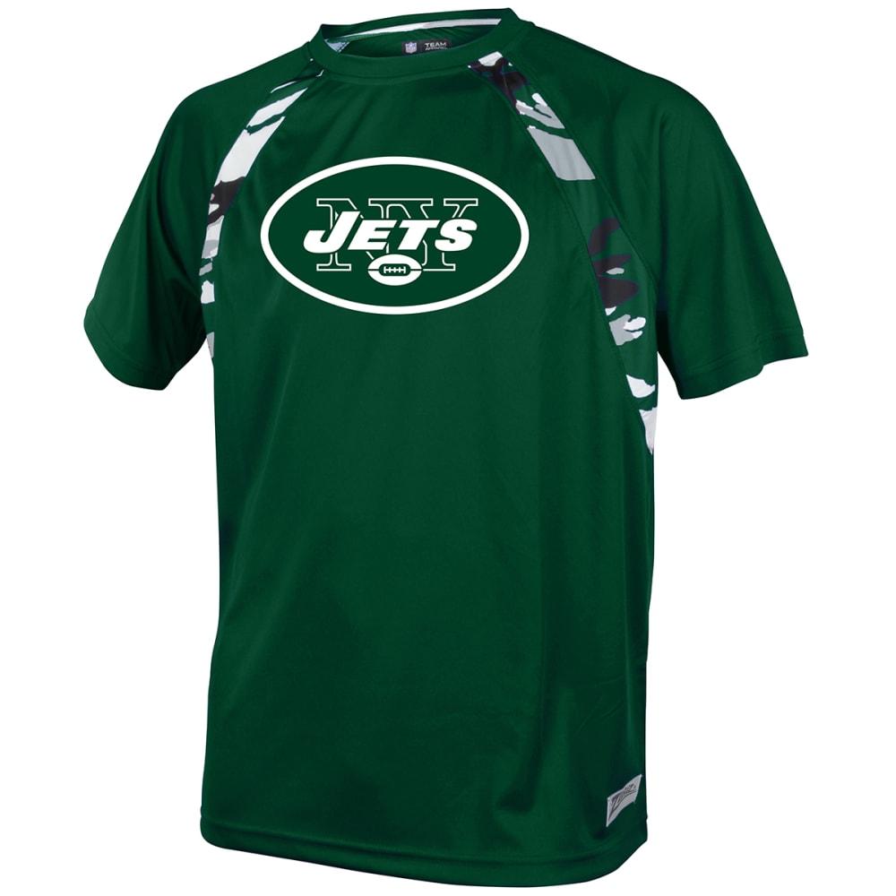 NEW YORK JETS Men's Solid Camo Short-Sleeve Tee - GREEN